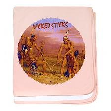 Wicked Sticks - Lacrosse baby blanket