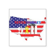 """Never Forget 9-11 Square Sticker 3"""" x 3"""""""