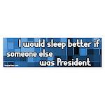 Sleep Better Dump Bush Bumpersticker