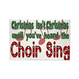 Christmas...Choir Sings Rectangle Magnet (10 pack)