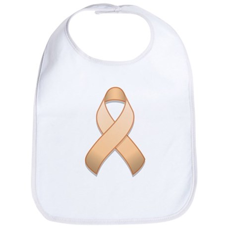 Peach Awareness Ribbon Bib