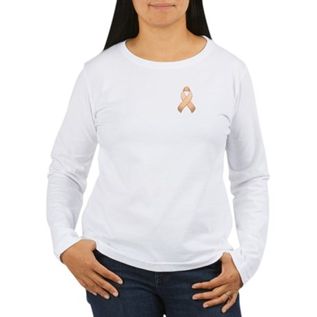 Peach Awareness Ribbon Women's Long Sleeve T-Shirt