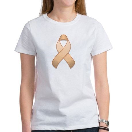 Peach Awareness Ribbon Women's T-Shirt