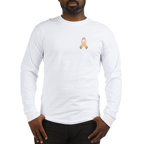 Peach Awareness Ribbon Long Sleeve T-Shirt