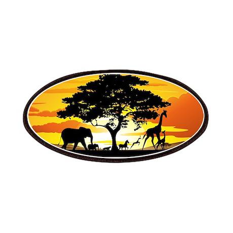 Wild Animals on African Savannah Sunset Patches