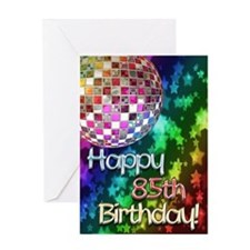 85th birthday disco ball and rainbow of stars Gree