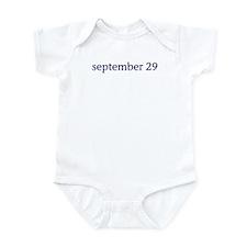 September 29 Infant Bodysuit