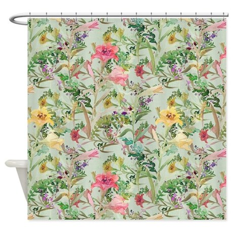 floral images bathroom decor colorful floral pattern shower curtain