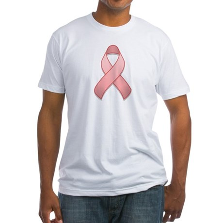 Pink Awareness Ribbon Fitted T-Shirt