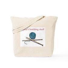 Nana's Knitting Tote Bag