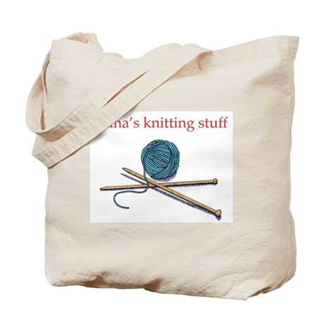 Nana's Knitting Tote Bag