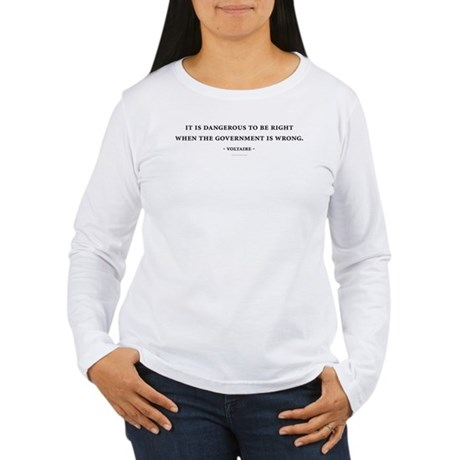 Voltaire Quote Womens Long Sleeve T-Shirt