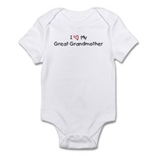 I Love My Great Grandmother Infant Bodysuit
