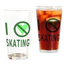 I Hate Skating Drinking Glass