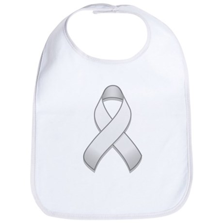 White Awareness Ribbon Bib