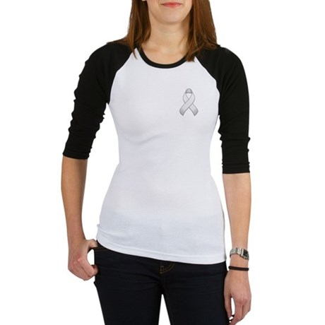 White Awareness Ribbon Jr. Raglan