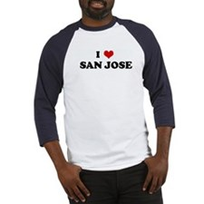 I Love  SAN JOSE Baseball Jersey