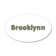 Brooklynn Spring Green 35x21 Oval Wall Decal