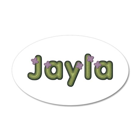 Jayla Spring Green 20x12 Oval Wall Decal