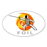 GO FOIL Oval Decal