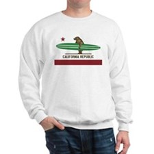 California Surfing Bear Longboard Sweatshirt