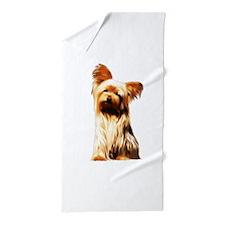 Yorkshire Puppy Tiny Dog Beach Towel