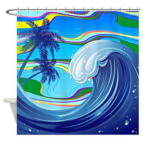 Sea Ocean big Wave Water Shower Curtain