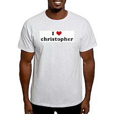 I Love christopher Ash Grey T-Shirt
