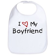 I Love My Boyfriend Bib