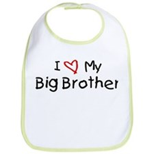 I Love My Big Brother Bib