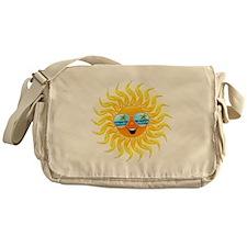 Summer Sun Cartoon with Sunglasses Messenger Bag