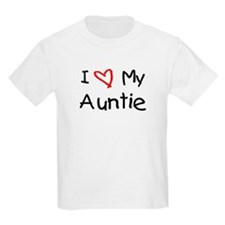 I Love My Auntie Kids T-Shirt