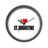 I Love St. Augustine, Florida Wall Clock