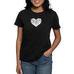 Baritone Sax Heart Women's Dark T-Shirt