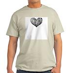 Baritone Sax Heart Ash Grey T-Shirt