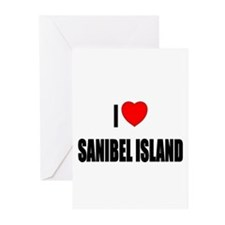 I Love Sanibel Island, Florid Greeting Cards (Pack