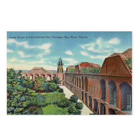 Fort Jefferson Vintage Key West Postcards
