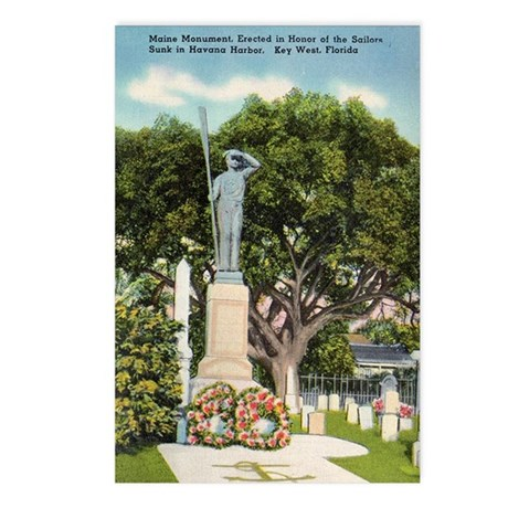 Maine Monument Vintage Key West Postcards