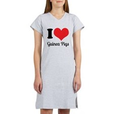 I Love Guinea Pigs Women's Nightshirt