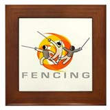 FENCING TRIO Framed Tile