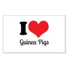 I Love Guinea Pigs Decal