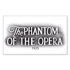 The Phantom of the Opera 1925 Rectangular Decal