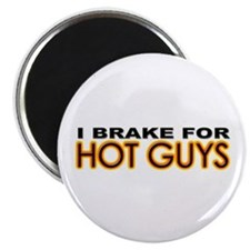 "Brake for Hot Guys - Gay 2.25"" Magnet (10 pack)"