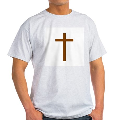 Brown Cross Ash Grey T-Shirt