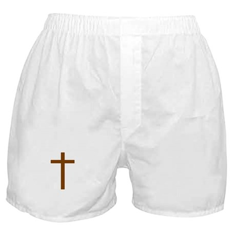 Brown Cross Boxer Shorts