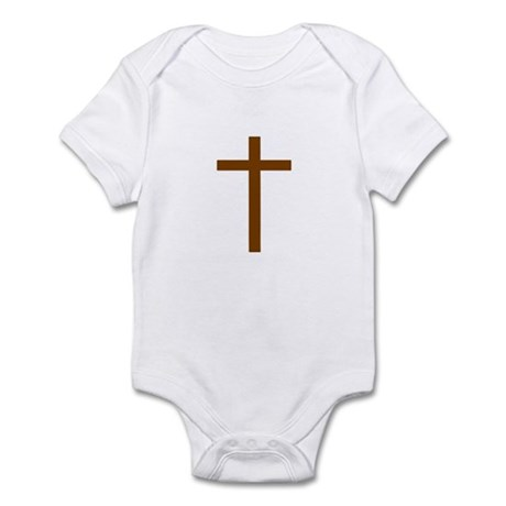 Brown Cross Infant Bodysuit