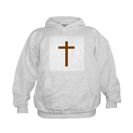 Brown Cross Kids Hoodie
