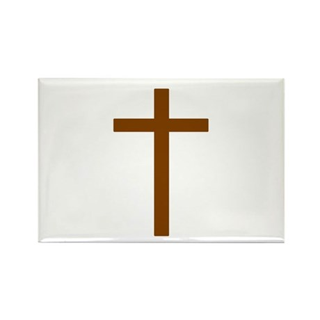 Brown Cross Rectangle Magnet (100 pack)