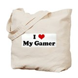I Love My Gamer Tote Bag