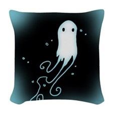 Little Ghost Woven Throw Pillow